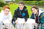 Delighted with their leaving Cert results in St Brendans College, Killarney were John Cronin, Mark Twomey and Simon Horgan.   Copyright Kerry's Eye 2008
