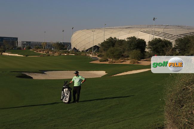 Andy Sullivan (ENG) on the 18th during Round 1 of the Commercial Bank Qatar Masters 2020 at the Education City Golf Club, Doha, Qatar . 05/03/2020<br /> Picture: Golffile   Thos Caffrey<br /> <br /> <br /> All photo usage must carry mandatory copyright credit (© Golffile   Thos Caffrey)