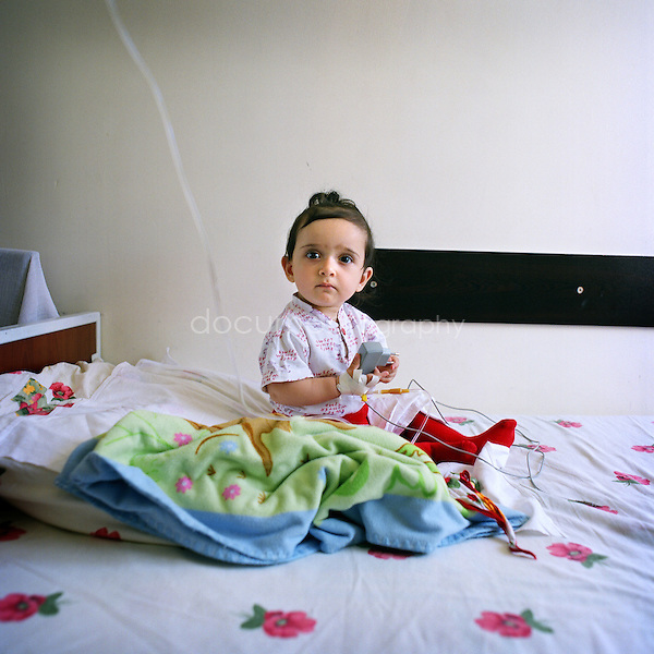 .A child in the Children Hospital of Stepanakert...Nagorno Karabakh, oct 2010, Stepanakert..Magali Corouge/Documentography.