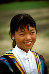 Southeast Asian, Vietnam. Hue, tribal, young woman, photo# vietna104.Photo Copyright: Lee Foster, www.fostertravel.com, 510-549-2202, lee@fostertravel.com