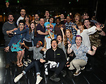 """Jill Abramovitz with the ensemble castduring the Broadway Opening Night Actors' Equity Legacy Robe Ceremony honoring Jill Abramovitz for """"Beetlejuice"""" at The Wintergarden on April 25, 2019  in New York City."""