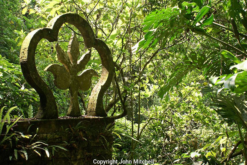 Fleur de lys sculpture at Las Pozas, the surrealistic sculpture garden created by Edward James near Xilitla, Mexico