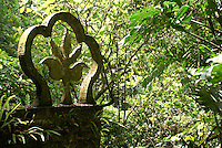 Fleur de lys sculpture at Las Pozas, the surrealistic sculpture garden created by Edward James near Xilitla, Mexico