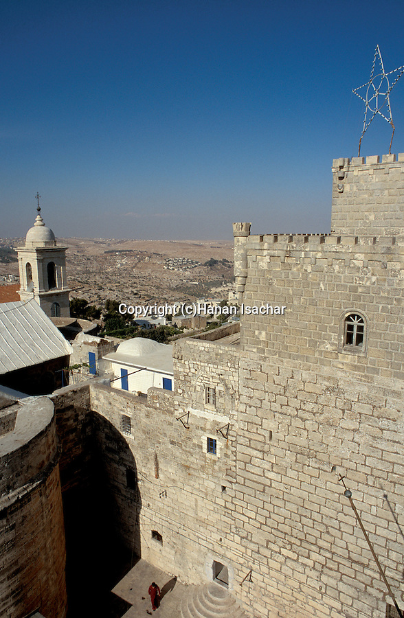 Palestinian territories, Bethlehem, a view from the belltower of the Church of the Nativity