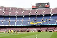 BARCELONA, 02-10-2017. LaLiga 2017/ 2018, date 7. FC Barcelona 3-0 UD Las Palmas. Empty Camp Nou stadium. <br /> Lo stadio Nou Camp deserto. La decisione e' stata presa dal Barcellona in occasione del referendum sull'indipendenza della Catalogna . Il governo centrale spagnolo ha effettuato operazioni di repressione per impedirne lo svolgimento <br /> Foto Sergio Ruiz/Pro Shots/Insidefoto