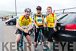 Seamus O'Sullivan, Karen O'Sullivan and Celine O'Connor (Rathmore) at the start of the Dingle adventure Race on Saturday morning.