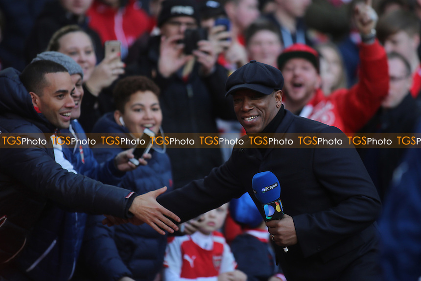 Arsenal fans were excited to see Ian Wright who was at the match working for BT Sports - Arsenal vs Middlesbrough - FA Challenge Cup 5th Round Football at the Emirates Stadium, London - 15/02/15 - MANDATORY CREDIT: Paul Dennis/TGSPHOTO - Self billing applies where appropriate - contact@tgsphoto.co.uk - NO UNPAID USE