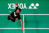 18th March 2018, Arena Birmingham, Birmingham, England; Yonex All England Open Badminton Championships; Mathias Boe (DEN) and Carsten Mogensen (DEN) in the mens singles final against MarcusFernaldi Gideon (INA) and Kevin Sanjaya Sukamuljo (INA)