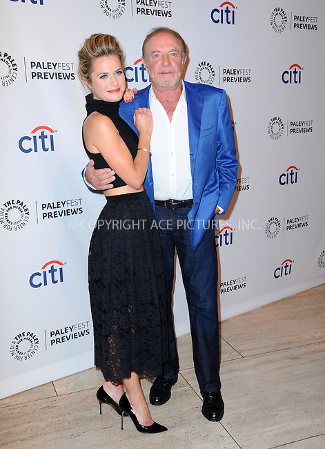 WWW.ACEPIXS.COM<br /> <br /> September 10 2013, LA<br /> <br /> Actress Maggie Lawson and actor James Caan at the PaleyFest: ABC Fall TV Preview of 'Back In The Game' at The Paley Center for Media on September 10, 2013 in Beverly Hills, California<br /> <br /> <br /> By Line: Peter West/ACE Pictures<br /> <br /> <br /> ACE Pictures, Inc.<br /> tel: 646 769 0430<br /> Email: info@acepixs.com<br /> www.acepixs.com