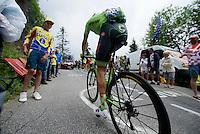 Dylan van Baarle (NLD/Cannondale-Drapac) up the Mont&eacute;e de Bisanne (HC/1723m/12.4km/8.2%)<br /> <br /> Stage 19:  Albertville &rsaquo; Saint-Gervais /Mont Blanc (146km)<br /> 103rd Tour de France 2016
