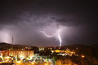 Lightning over downtown Charlottesville, Va.