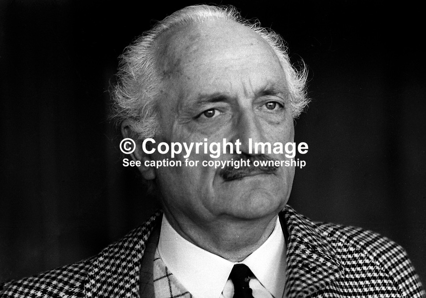 George Allport, Bangor, Co Down, N Ireland, UK, prominent member in the Ulster Vanguard Movement, March, 1972, 197203000085a<br /> <br /> Copyright Image from Victor Patterson, 54 Dorchester Park, Belfast, UK, BT9 6RJ<br /> <br /> t1: +44 28 9066 1296<br /> t2: +44 28 9002 2446<br /> m: +44 7802 353836<br /> <br /> e1: victorpatterson@me.com<br /> e2: victorpatterson@gmail.com<br /> <br /> www.victorpatterson.com<br /> <br /> IMPORTANT: Please see my Terms and Conditions of Use at www.victorpatterson.com