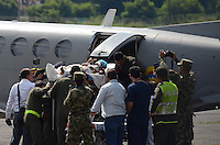 MEDELLÍN - COLOMBIA, 25-06-2015. Nelly Murillo Moreno y su hijo de 4 meses quines fueron los sobrevivientes del accidente de la avioneta tipo cesna HK-4677G en las selvas del Alto Baudo en el departamento del Chocó Colombia./ Nelly Murillo Moreno and her 4 month old son who were the survivors of the crash of the plane cesna type HK-4677G in the forests of Alto Baudo in Colombia Choco.  Photo: VizzorImage/ León Monsalve /Cont