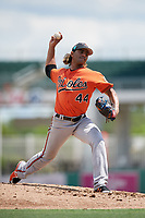Baltimore Orioles pitcher Marcos Molina (44) delivers a pitch during a Florida Instructional League game against the Boston Red Sox on September 21, 2018 at JetBlue Park in Fort Myers, Florida.  (Mike Janes/Four Seam Images)