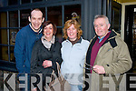 Pictured in Clonmel, Co Tipp last Sunday for the Irish National Coursing were l-r: Ger Lenihan, Laurna O'Shea, Colette Foran and Jim Harris (all Listowel).