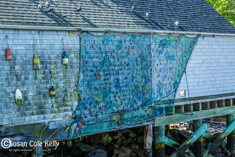 Fishing shack in York Harbor, Maine, USA