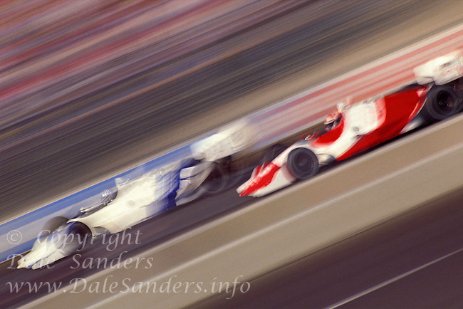 700-00032925                                Blurred View of Indy / Formula Racing.  Vancouver, BC, Canada