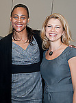 Marion Jones with Christine Hassler at the Eleventh Annual Texas Conference for Women