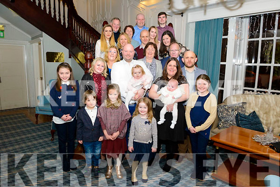 John O'Brien and Niamh Casey from Killarney celebrated christening of their daughter Adah surrounded by friends and family in the Avenue Hotel, Killarney last Saturday night.