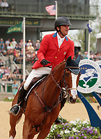 LEXINGTON, KY - April 30, 2017. #66 Mr. Medicott and Phillip Dutton from the USA finish in 4th place in the Rolex Three Day Event at the Kentucky Horse Park.  Lexington, Kentucky. (Photo by Candice Chavez/Eclipse Sportswire/Getty Images)
