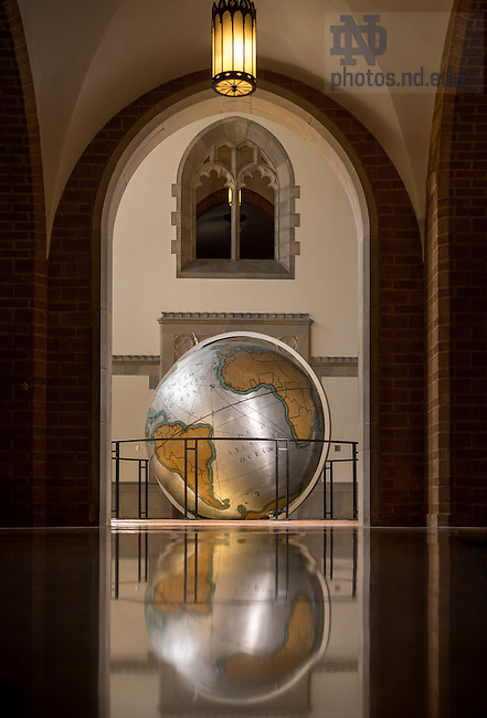 Apr. 14, 2016; Globe in Hurley Hall (Photo by Matt Cashore/University of Notre Dame)