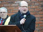 Ged Nash TD speaking at the Save St Joseph's hospital march. Photo: Colin Bell/pressphotos.ie