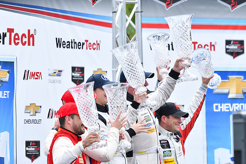 IMSA WeatherTech SportsCar Championship<br /> Chevrolet Sports Car Classic<br /> Detroit Belle Isle Grand Prix, Detroit, MI USA<br /> Saturday 3 June 2017<br /> 63, Ferrari, Ferrari 488 GT3, GTD, Alessandro Balzan, Christina Nielsen, 93, Acura, Acura NSX, GTD, Andy Lally, Katherine Legge, 48, Lamborghini, Lamborghini Huracan GT3, GTD, Bryan Sellers, Madison Snow<br /> World Copyright: Richard Dole<br /> LAT Images<br /> ref: Digital Image RD_DTW_17_0404