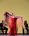 London, UK. 11.03.2014. Gala Flamenca: The Five Seasons, performed by Marco Flores, Olga Pericet, Laura Rozalen and Mercedes Ruiz, as part of the Flamenco Festival London 2014, at Sadler's Wells. Picture shows: Olga Pericet. Photograph © Jane Hobson.