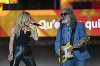 Marie-Mai and Michel Pagliaro perform at the St-Jean show on the Plains of Abraham in Quebec City during the FÍte nationale du Quebec, Thursday June 23, 2016. St-Jean Baptist is Quebec National day and is traditionally celebrated on the Plains of Abraham with a concert and a huge fire.
