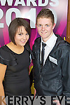 Klara O'Sillivan and Shane Buckley from Milltown Presentation School pictured Pictured at the Young Entrepreneur Awards at the Malton Hotel Killarney on Thursday Evening.