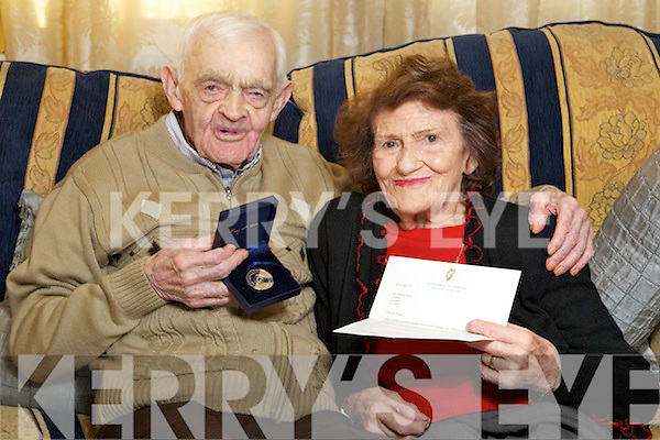 Mike Joe Stack who celebrates his 102nd birthday in the 12th of January pictured with his wife Margaret.