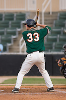 Matt Dominguez (33) of the Greensboro Grasshoppers at bat at Fieldcrest Cannon Stadium in Kannapolis, NC, Saturday August 24, 2008. (Photo by Brian Westerholt / Four Seam Images)