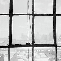 Upper West Midtown Manhattan through square windows<br />