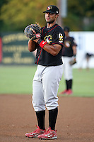 August 16 2008:  First baseman Carlos Pupo (21) of the Quad Cities River Bandits, Class-A affiliate of the St. Louis Cardinals, during a game at Pohlman Field in Beloit, WI.  Photo by:  Mike Janes/Four Seam Images