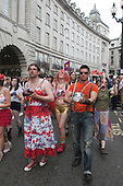London, England, 2 July 2011, Pride London 2011 celebrations in Central London. Pride London parade. Photo credit: Bettina Strenske