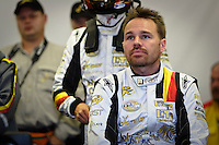 Kurt Mollekens (BEL), one of the pilots from the Saleen S7 GT1 #4, PekaRacing nv Team, is looking the start on Team's screens. He will take the third relay, Saturday, August 2, 2008, in Spa-Francorchamps, Belgium. (Valentin Bianchi/pressphotointl.com)