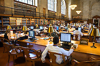 Internet access in the ROSE READING ROOM - NEW YORK CITY PUBLIC LIBRARY