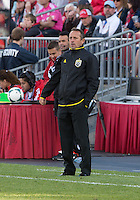 18 May 2013: Columbus Crew head coach Robert Warzycha watches the action during an MLS game between the Columbus Crew and Toronto FC at BMO Field in Toronto, Ontario Canada..The Columbus Crew won 1-0...