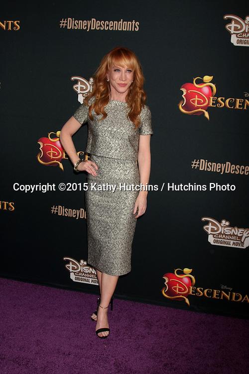 "LOS ANGELES - JUL 24:  Kathy Griffin at the ""Descendants"" Premiere Screening at the Walt Disney Studios on July 24, 2015 in Burbank, CA"