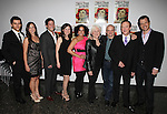 Kevin Fugaro, Gordana Rashovich, Curtis Billings, Maggie Lacey, Elisa Bocanegra, Olympia Dukakis, Edward Hibbert & Darren Pettie.attending the After Party for the Off-Broadway Roundabout Theatre Company Production of  'The Milk Train Doesn't Stop Here Anymore' at the Laura Pels Theatre in New York City..