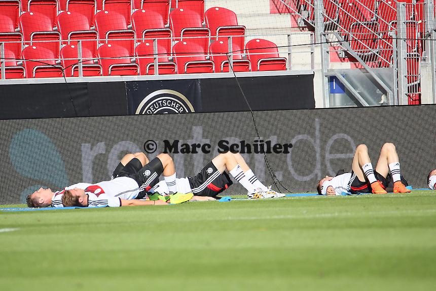 Aufwärmtraining - Abschusstraining Nationalmannschaft in Mainz