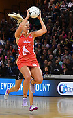 7th September 2017, Te Rauparaha Arena, Wellington, New Zealand; Taini Jamison Netball Trophy; New Zealand versus England;  Englands Chelsea Pitman takes a pass