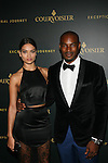 SHANINA SHAIK AND HONOREE TYSON BECKFORD AT TYSON BECKFORD HONORED  AT COURVOISIER'S EXCEPTIONAL JOURNEY LAUNCH EVENT HOSTED BY CHEF ROBLE HELD AT  THE SKYLARK