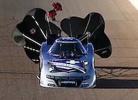 Feb 26, 2016; Chandler, AZ, USA; NHRA funny car driver Jack Beckman during qualifying for the Carquest Nationals at Wild Horse Pass Motorsports Park. Mandatory Credit: Mark J. Rebilas-