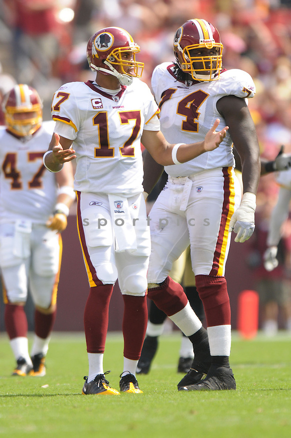 JASON CAMPBELL, of the Washington Redskins, in action during the Redskins game against the New Orleans Saints on September 14, 2008 in Washington DC...Redskins win 29-24..SportPics