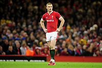 Johnny McNicholl of Wales during the Guinness Six Nations Championship Round 3 match between Wales and France at the Principality Stadium in Cardiff, Wales, UK. Saturday 22 February 2020