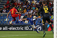 Rolando Mandragora of Italy andDion Cools of Belgium  compete for the ball<br /> Reggio Emilia 22-06-2019 Stadio Città del Tricolore <br /> Football UEFA Under 21 Championship Italy 2019<br /> Group Stage - Final Tournament Group A<br /> Belgium - Italy<br /> Photo Cesare Purini / Insidefoto