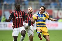 Roberto Inglese-Ignazio Abate-Christian Zapata <br /> Milano 2-12-2018 Stadio San Siro Football Calcio Serie A 2018/2019 AC Milan - Parma Foto Image Sport / Insidefoto