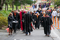 Eric Newhall Families, friends, faculty, staff and distinguished guests celebrate the class of 2019 during Occidental College's 137th Commencement ceremony on Sunday, May 19, 2019 in the Remsen Bird Hillside Theater.<br /> (Photo by Marc Campos, Occidental College Photographer)