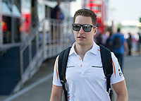 STOFFEL VANDOORNE (BEL) of McLaren during The Formula 1 2018 Rolex British Grand Prix at Silverstone Circuit, Northampton, England on 8 July 2018. Photo by Vince  Mignott.
